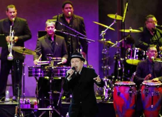 Rubén Blades y Eddie Palmieri en el Hollywood Bowl de Los Angeles