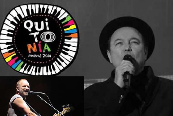 Sting y Rubén Blades, gratis en el Festival Quitonía